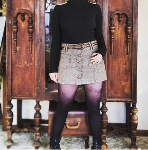 American Eagle Outfitters Retro Tweed Mini Skirt